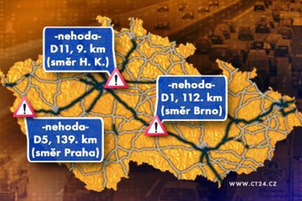 Dopravní situace v pátek 29. ledna