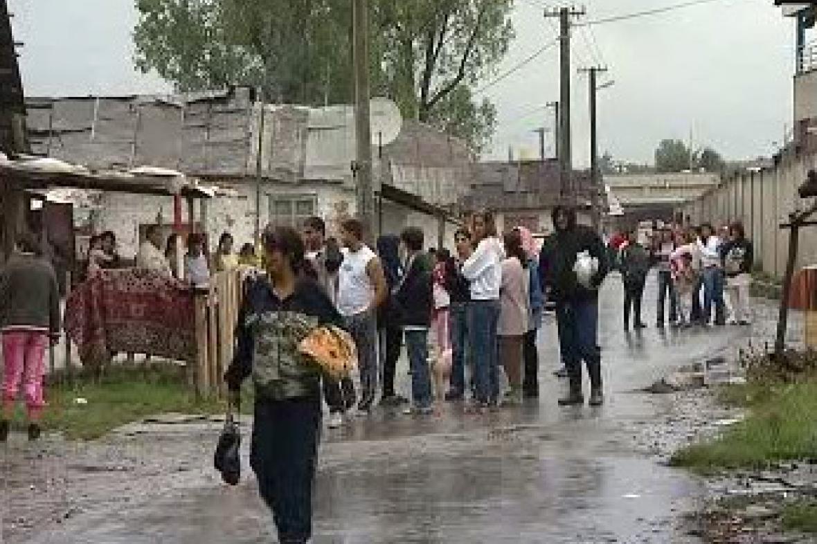 Romská osada na východním Slovensku