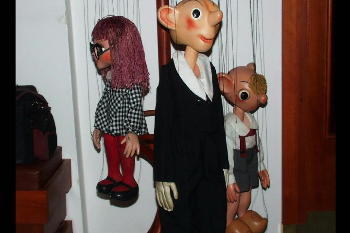 Spejbl, Hurvínek a Mánička