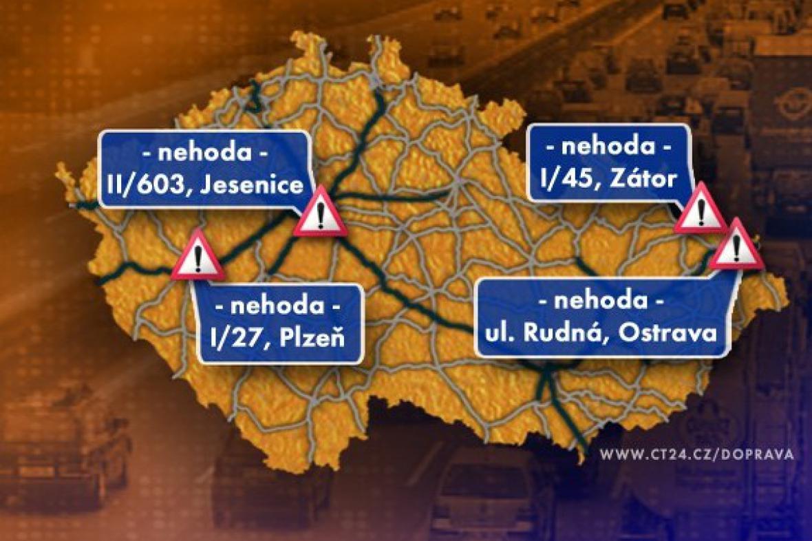 Dopravní situace v pondělí 14. 12. 2009