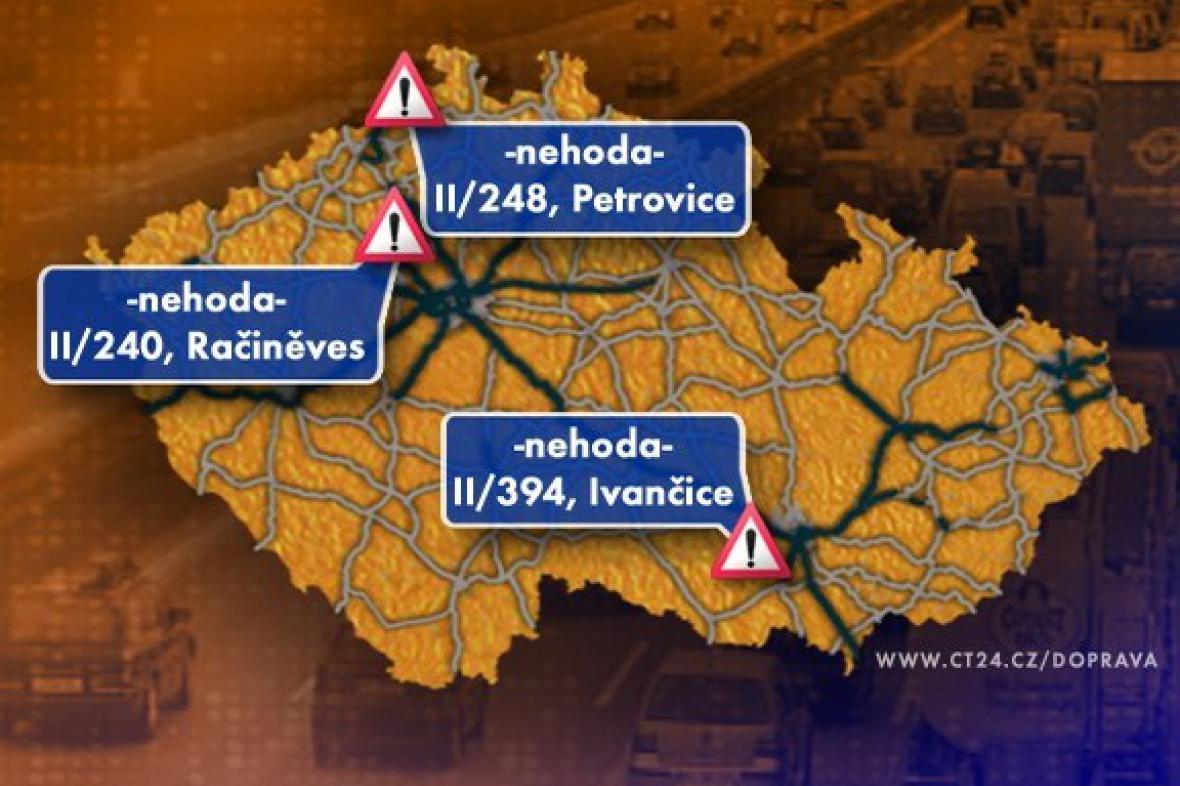 Dopravní situace v pondělí 30. 11. 2009