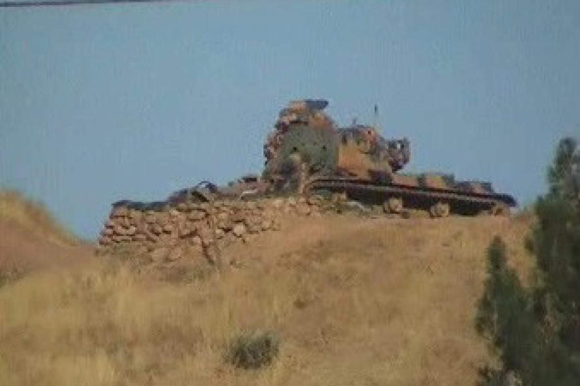 Turecká armáda na hranicích s Irákem