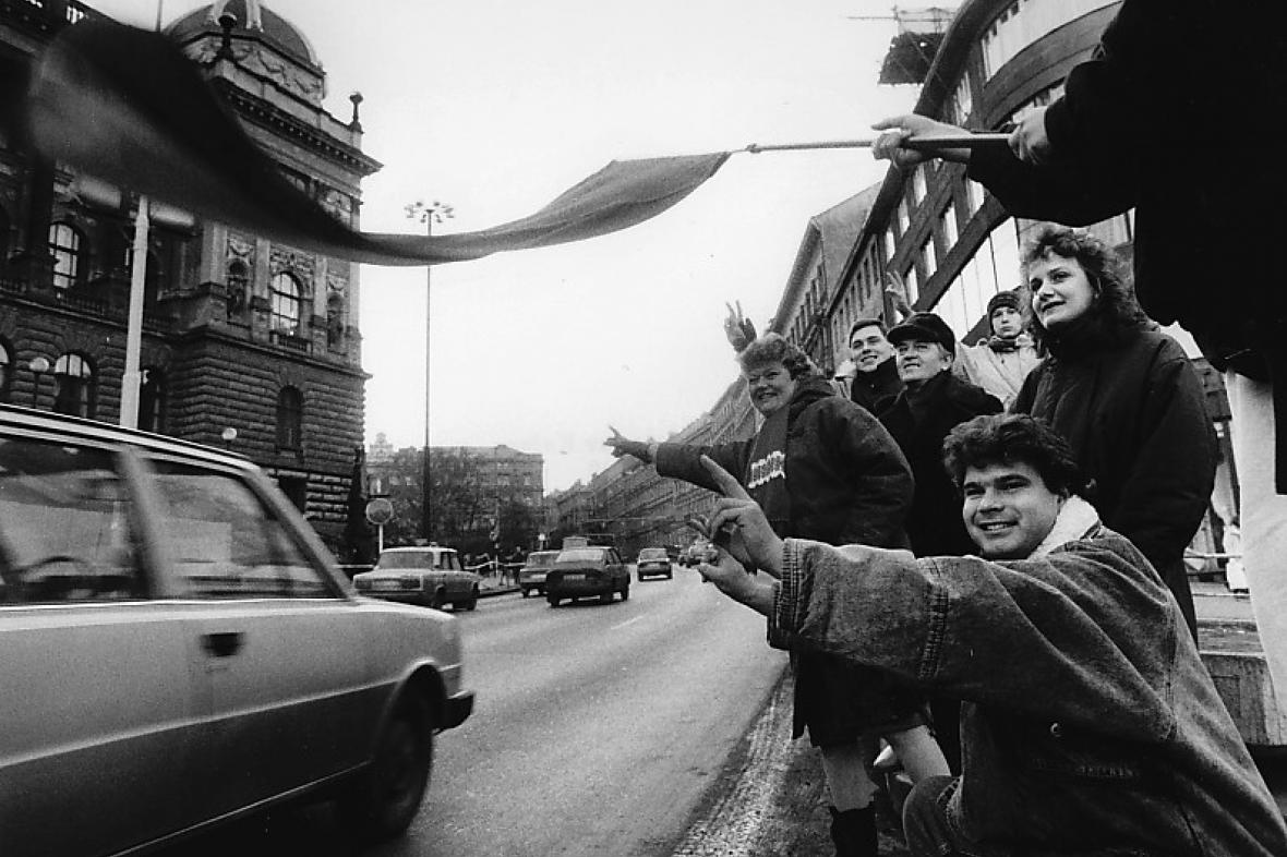 Listopad 1989 (foto: Jaroslav Kučera)
