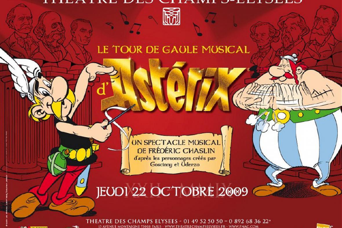 Asterix - plakát na muzikál