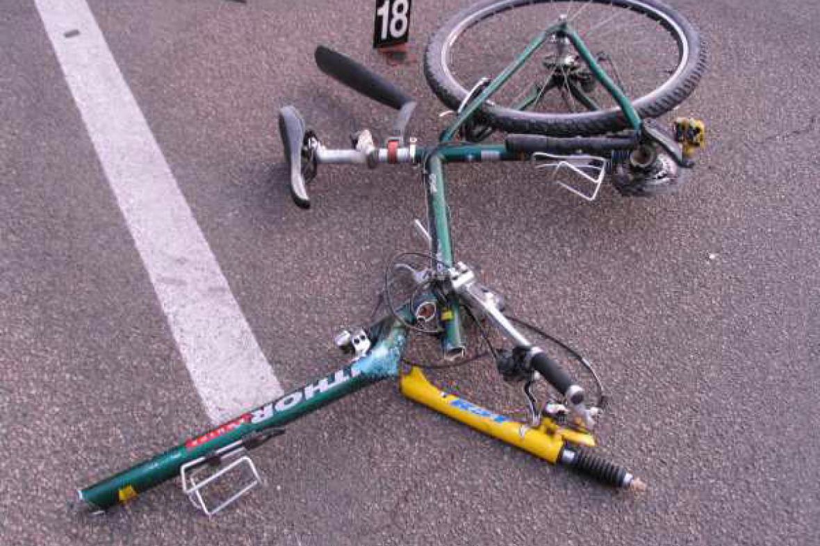 Jízdní kolo sraženého cyklisty