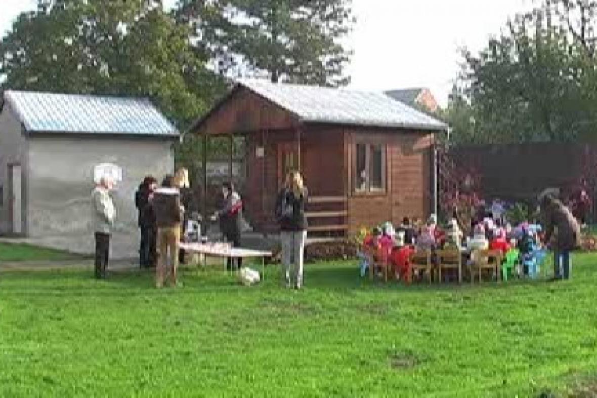 Zahrada mateřské školky v Ústíně