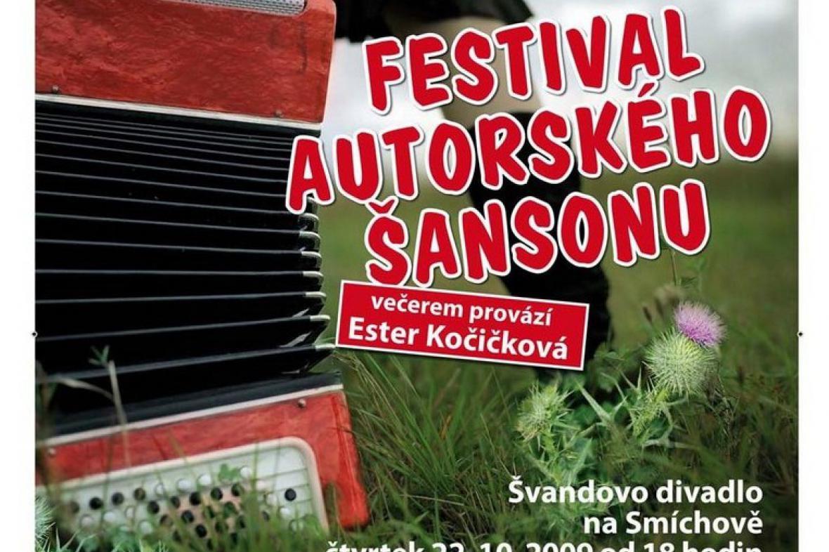 Festival autorského šansonu - plakát