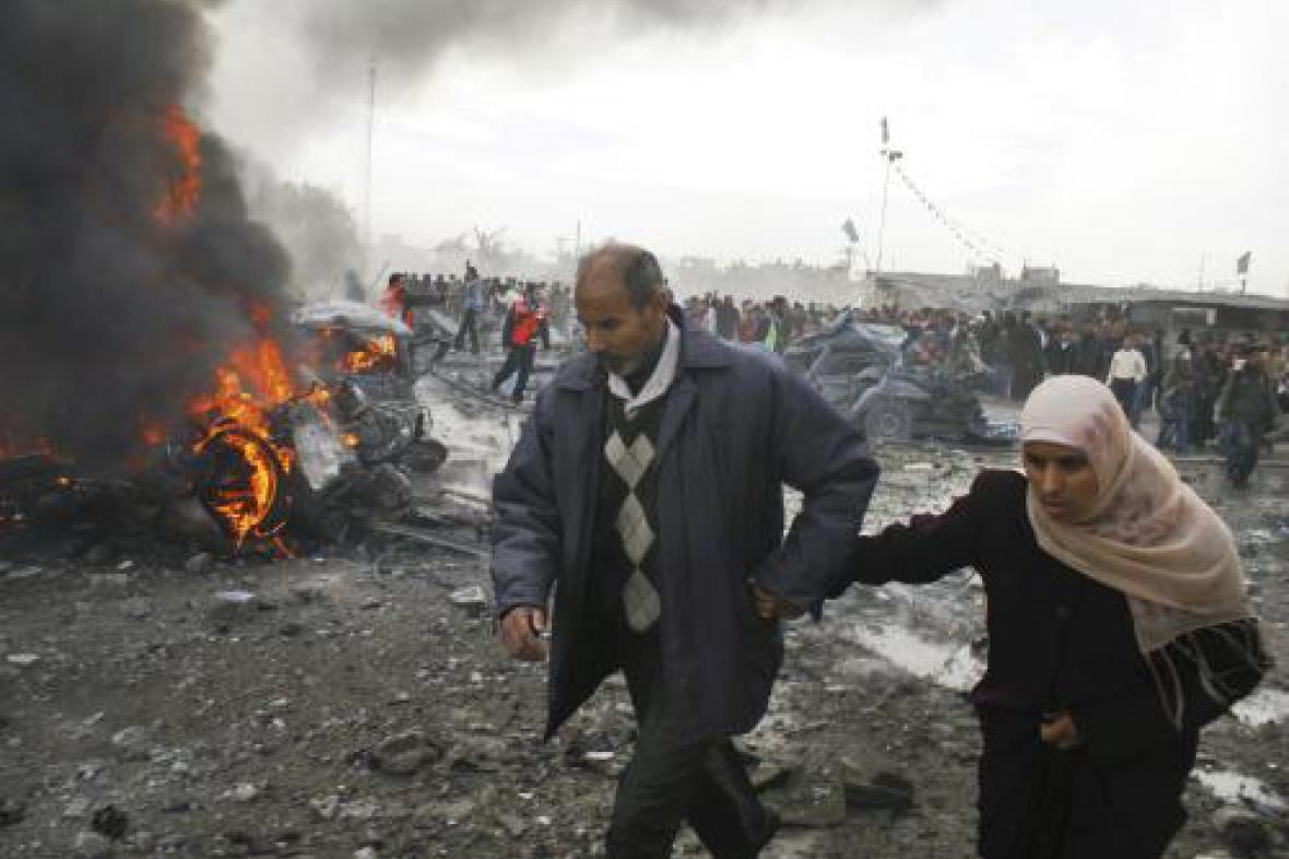 Izraelské útoky v Gaze
