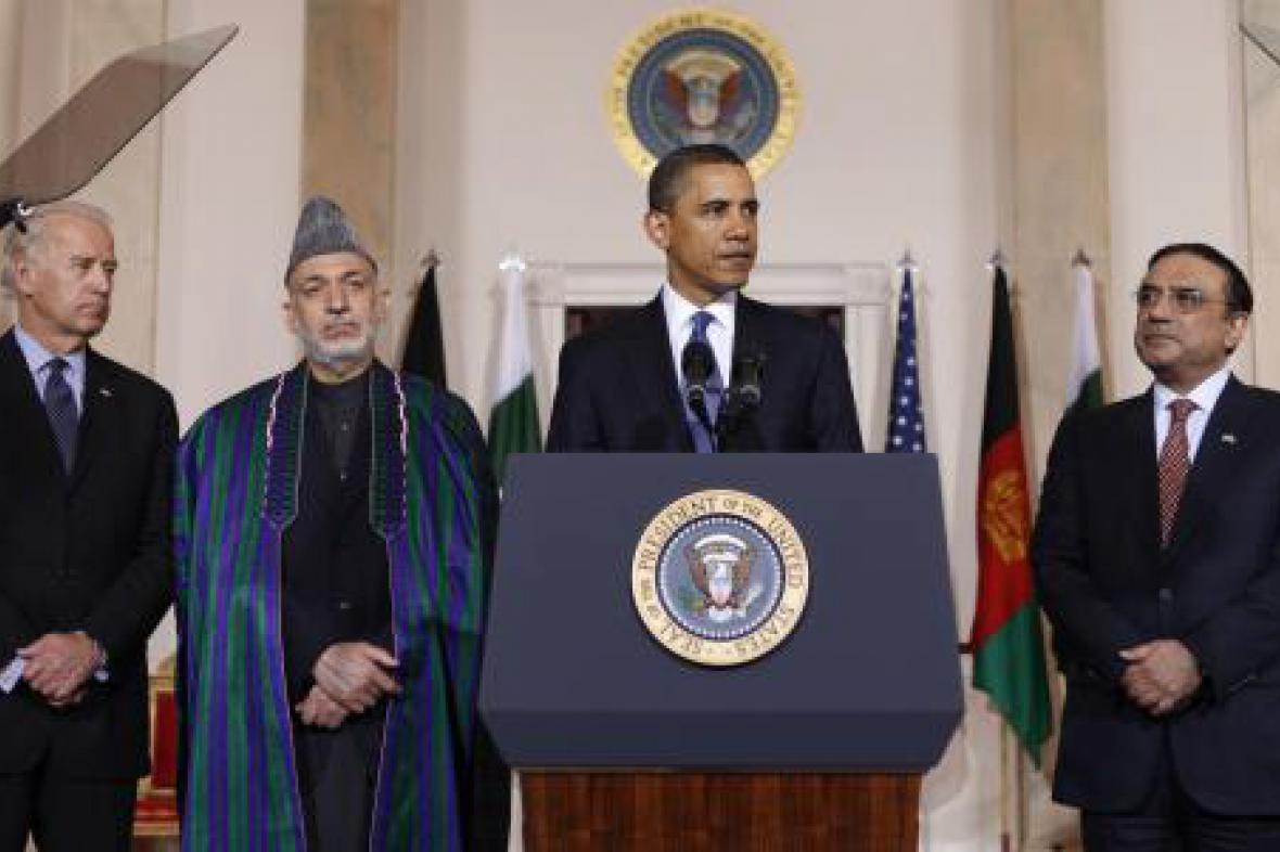 Barack Obama a Hamíd Karzáí