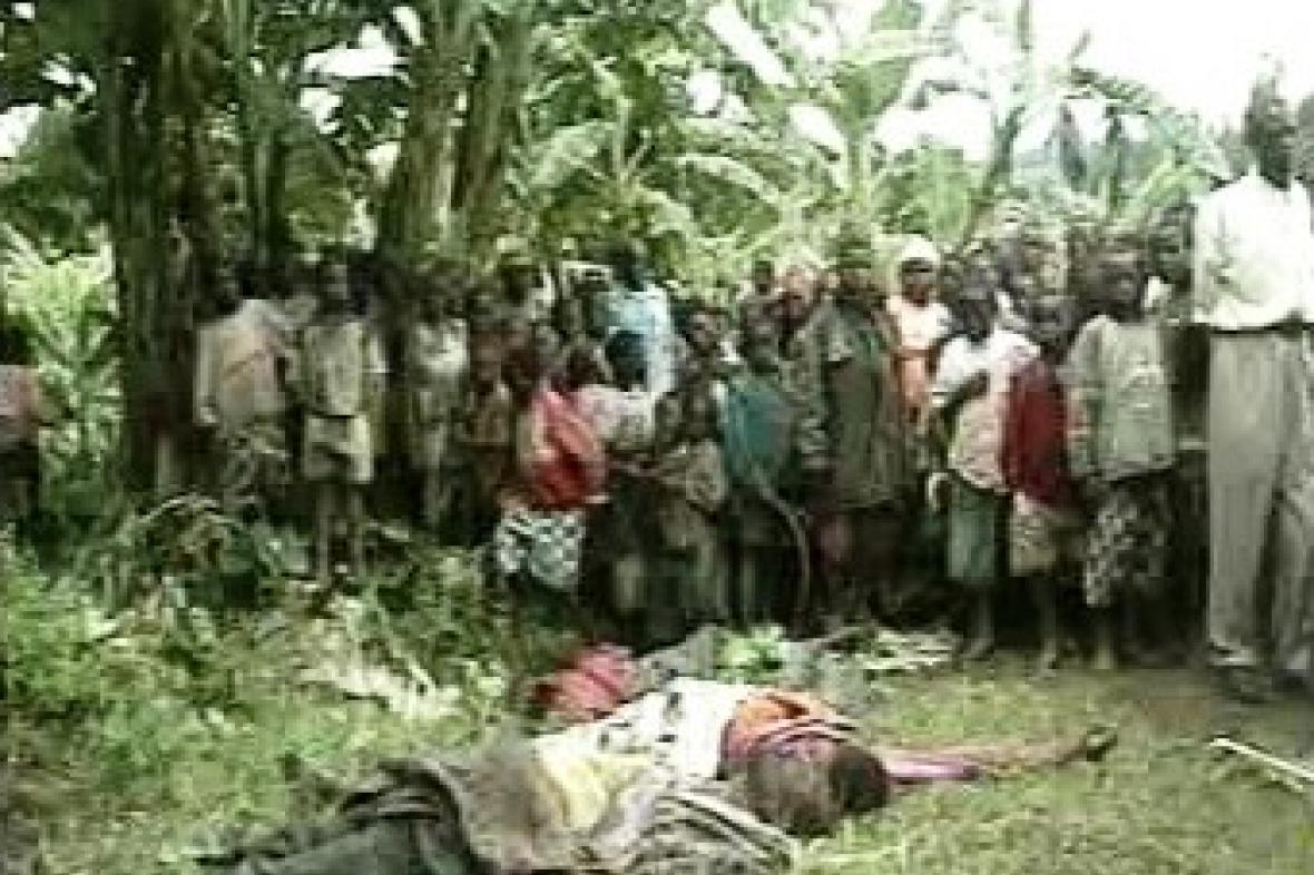 Oběti genocidy ve Rwandě