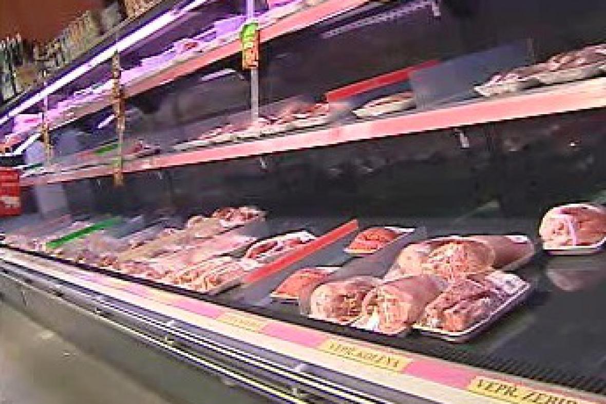 Maso v supermarketu