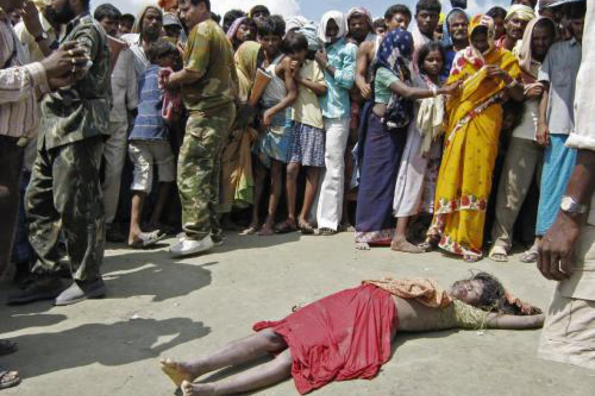 Oběť potopení lodě v Indii