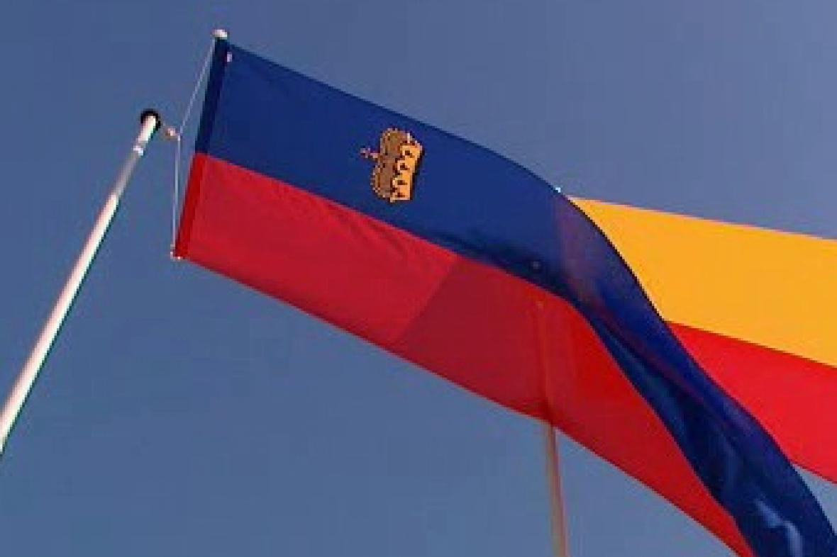 Vlajka velkoknížectví Lichtenštejnska