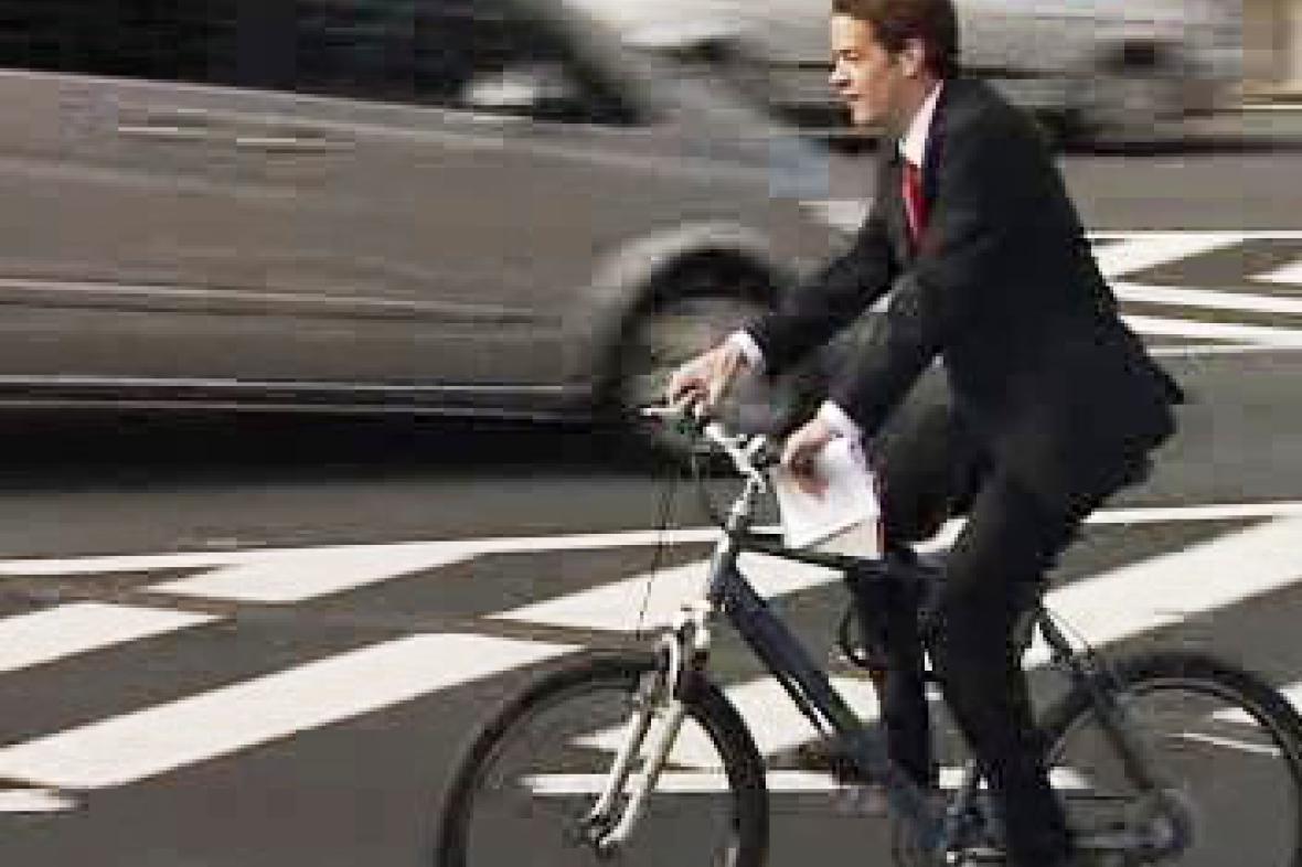 Úředník na kole