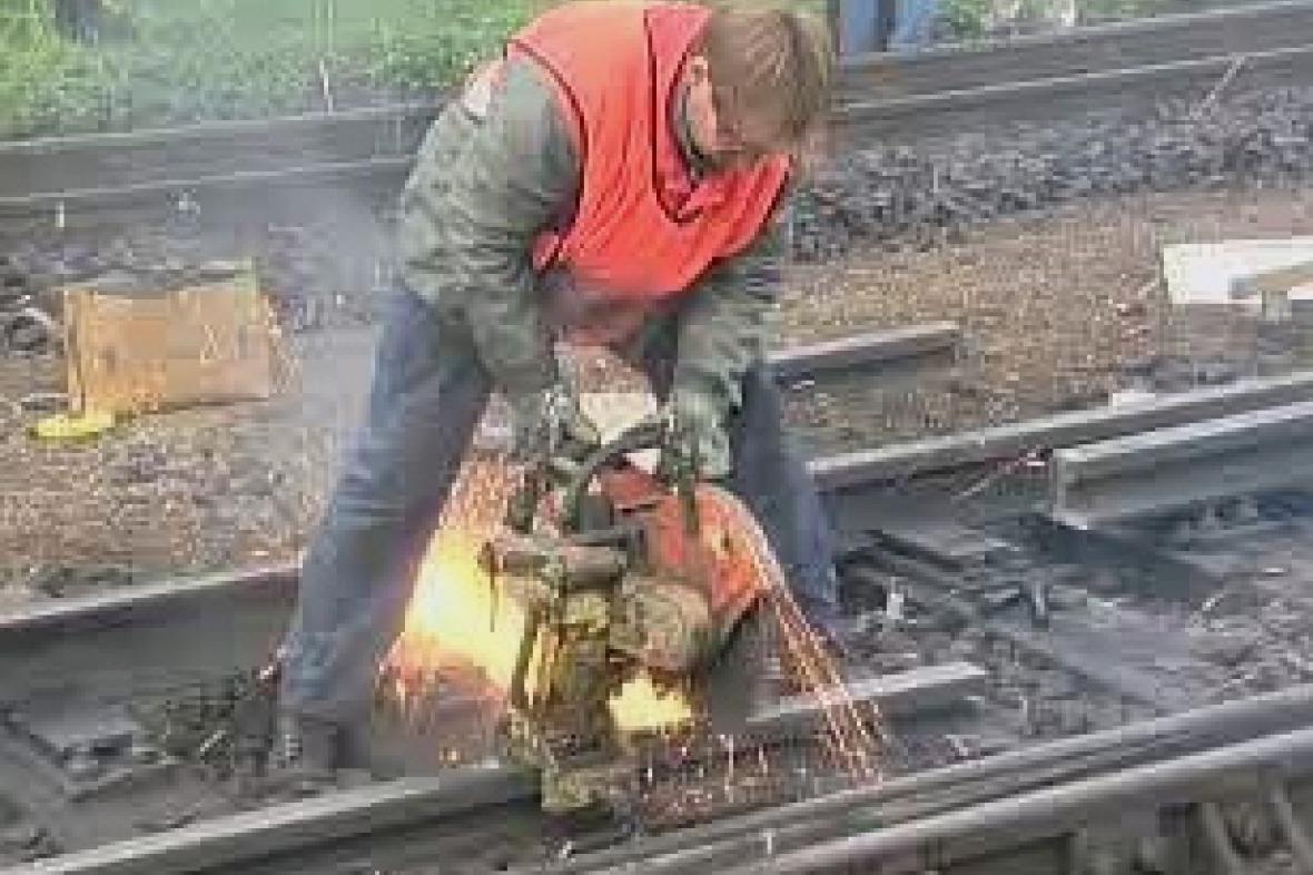 Práce na železnici