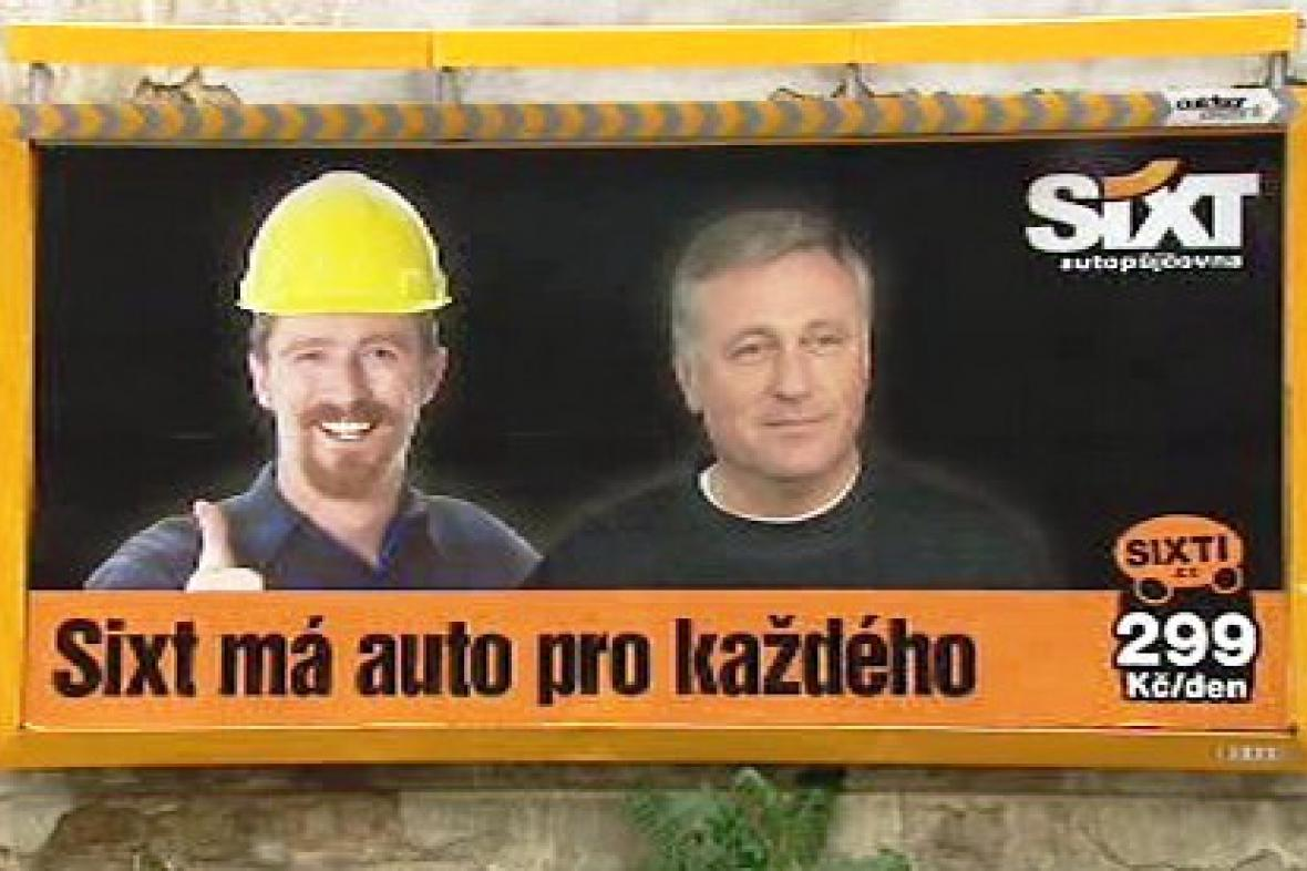 Billboard autopůjčovny Sixt
