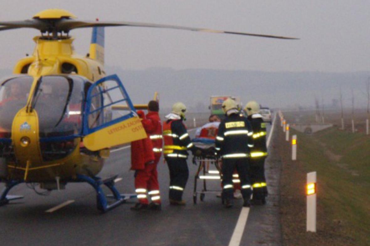 Vrtulník u nehody