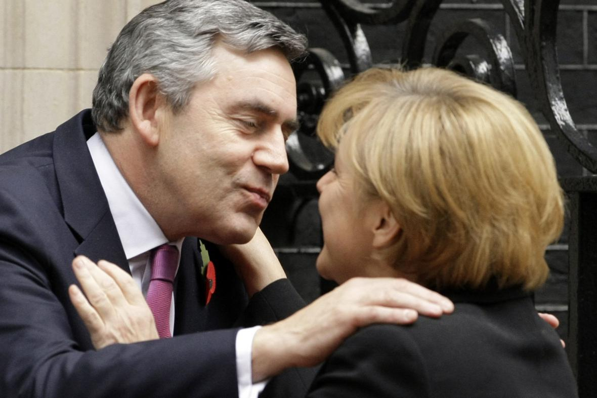 Angela Merkelová a Gordon Brown
