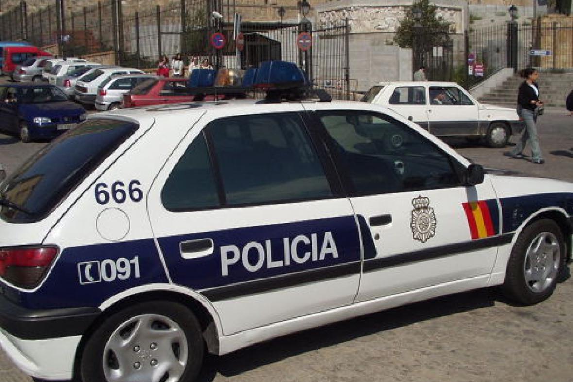 Španělské policejní auto