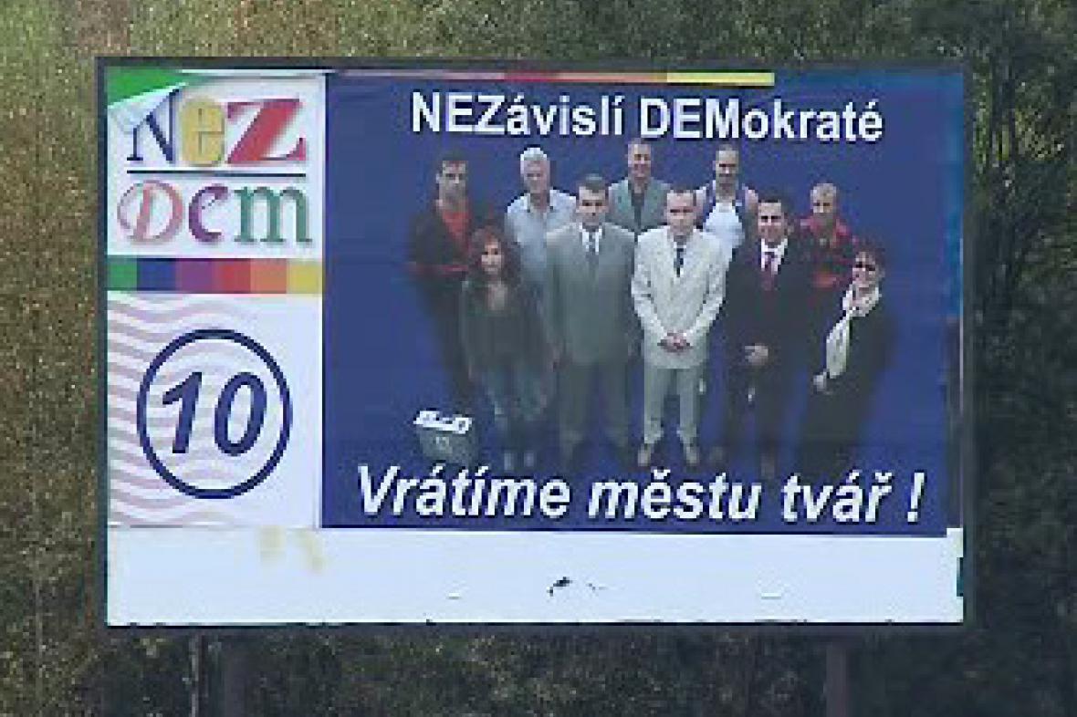 Billboard Nezávislých demokratů (předseda Vladimír Železný)