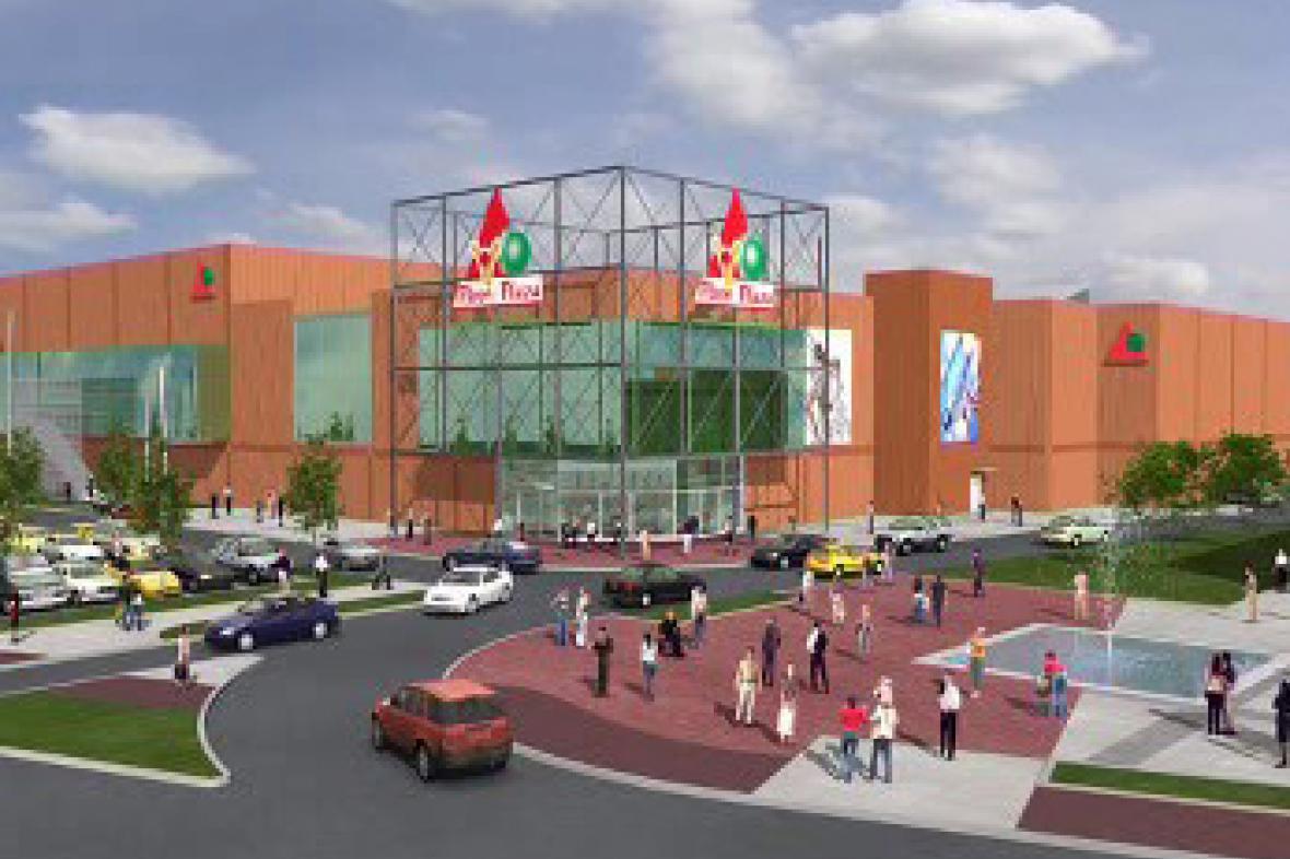 Vizualizace nákupního centra Plaza v Plzni