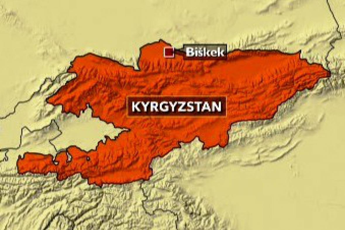 Mapka Kyrgyzstánu