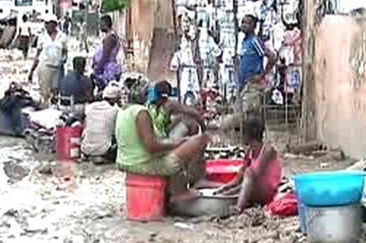 Haiťané na ulici