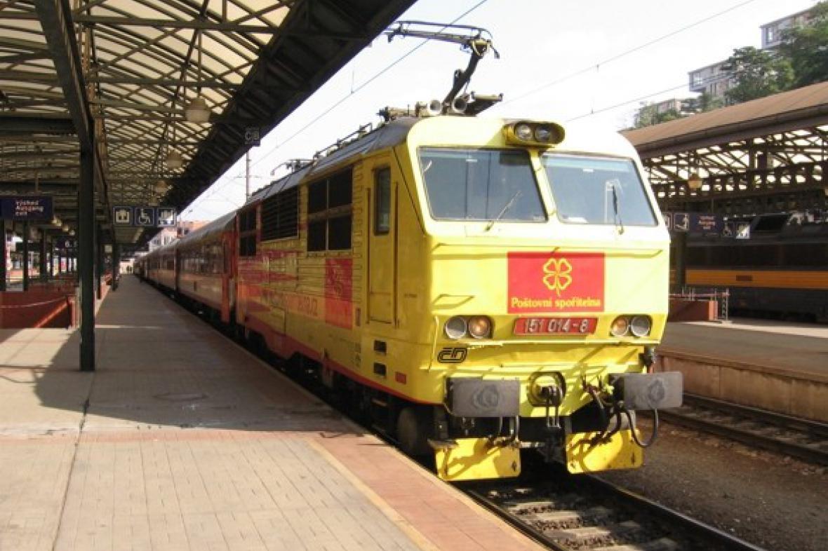 Vlak na Slovensko v Praze