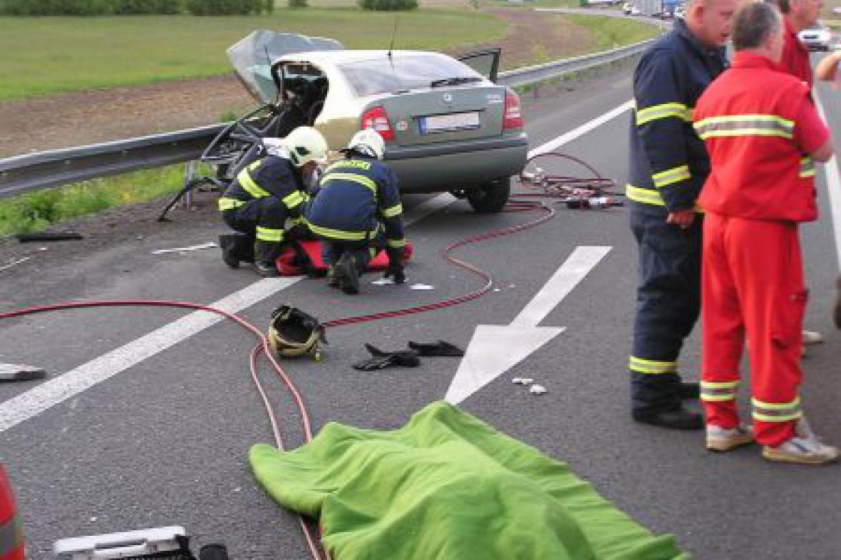 Hasiči u tragické nehody