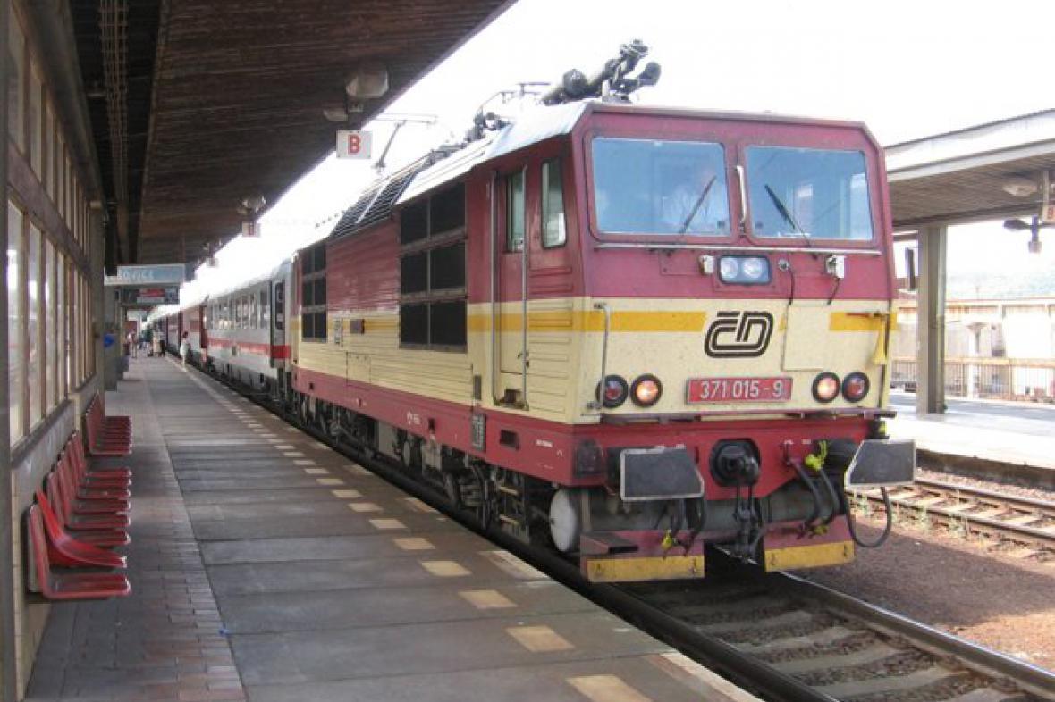 Vlak Vindobona v Praze