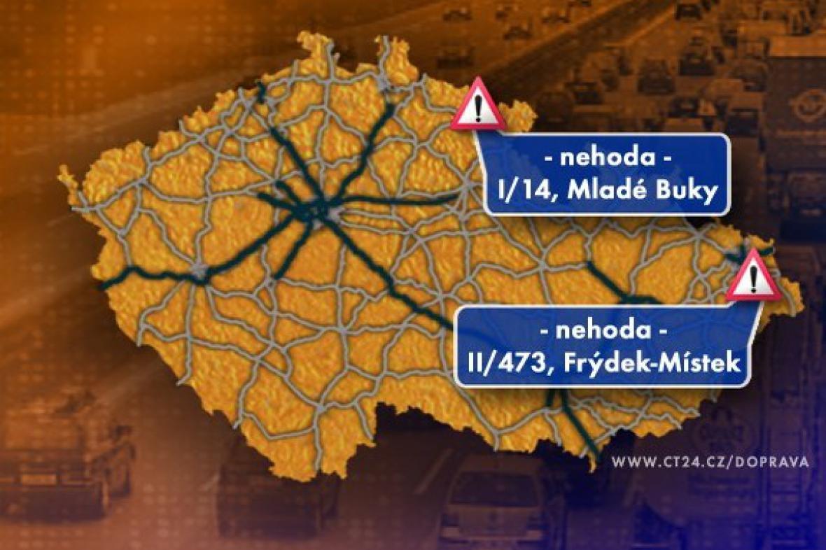 Dopravní situace v pondělí 22. 6. 2009