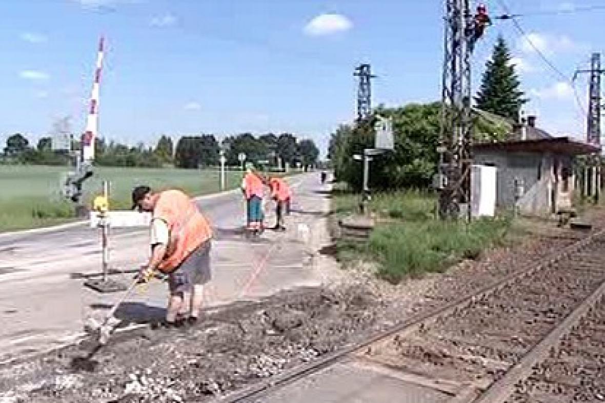 Oprava železničního přejezdu