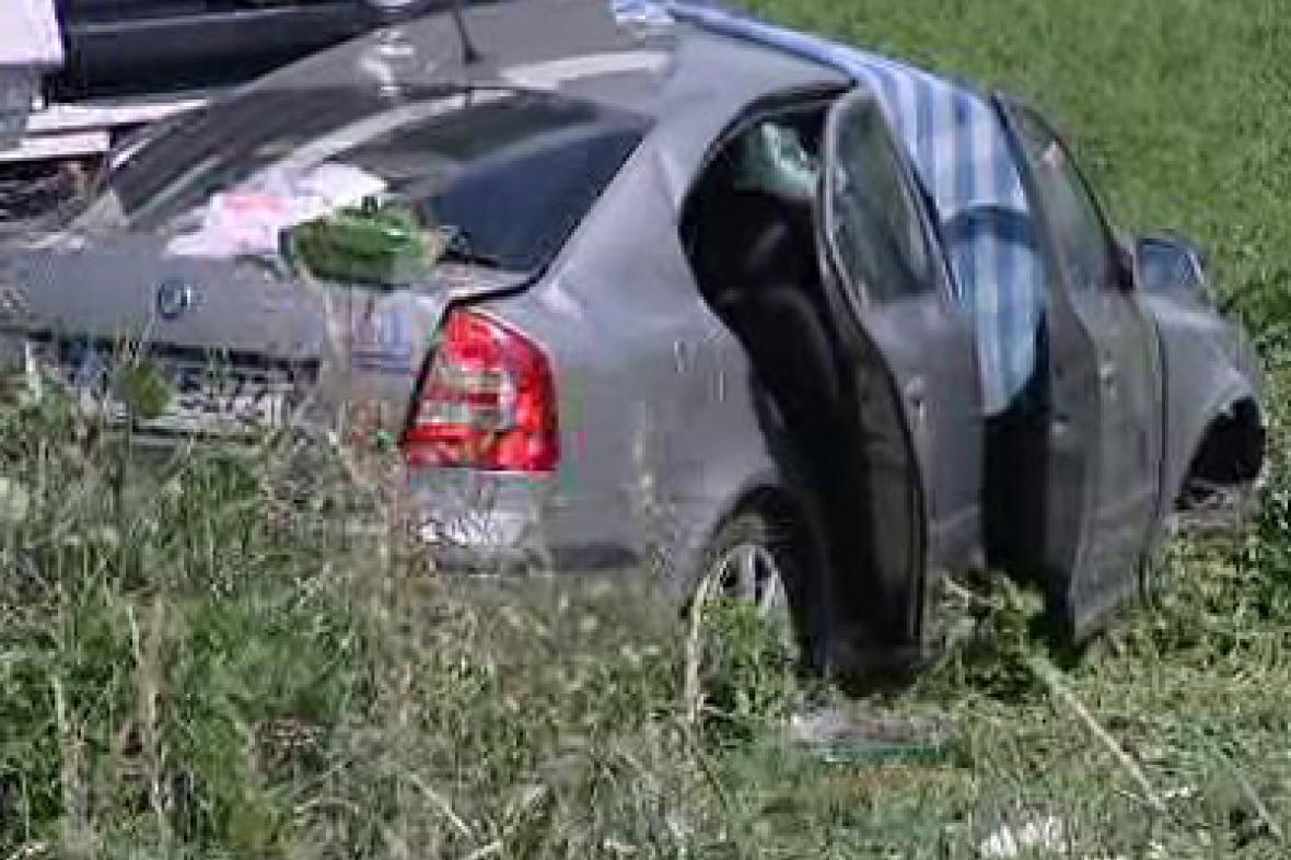 Auto po tragické dopravní nehodě