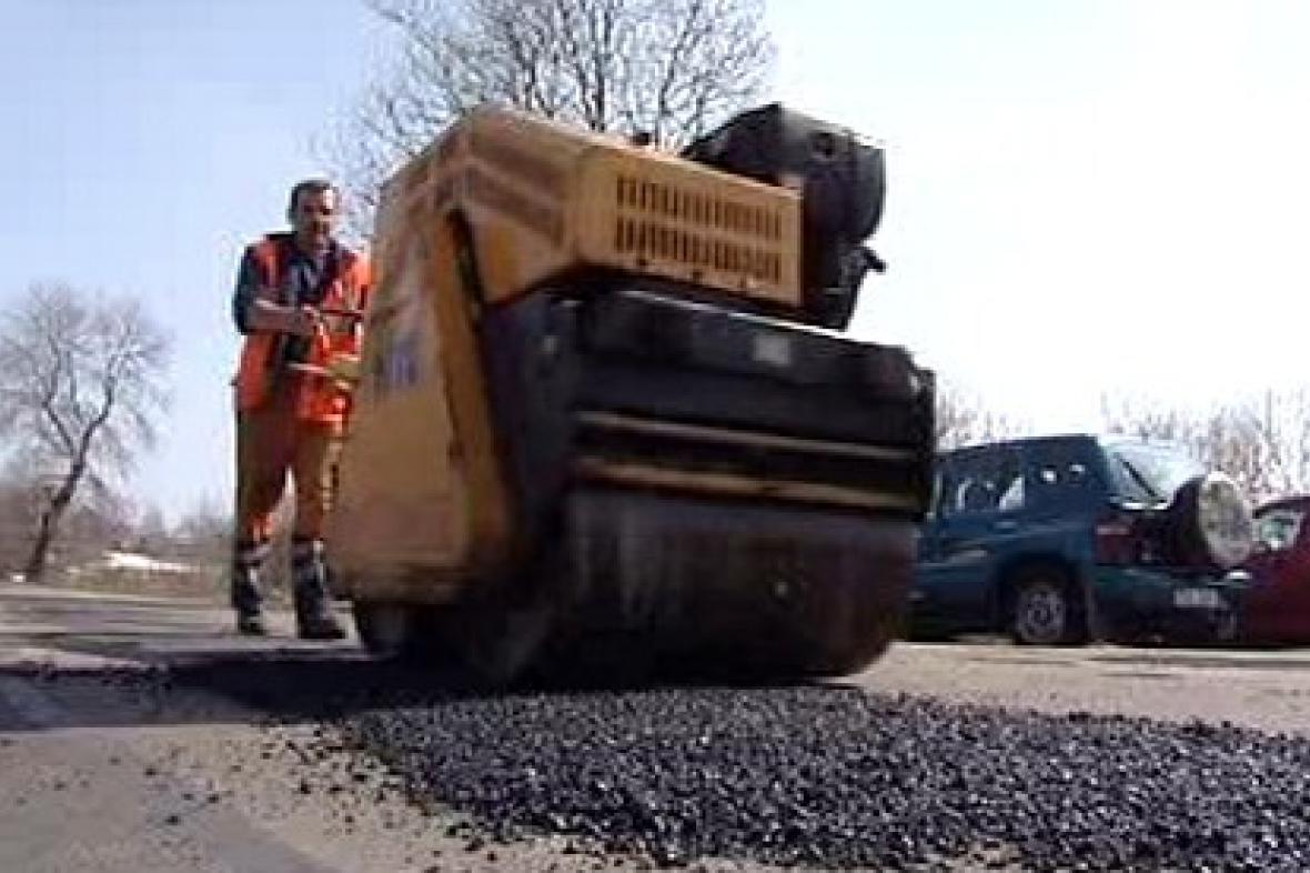 Záplatování silnice