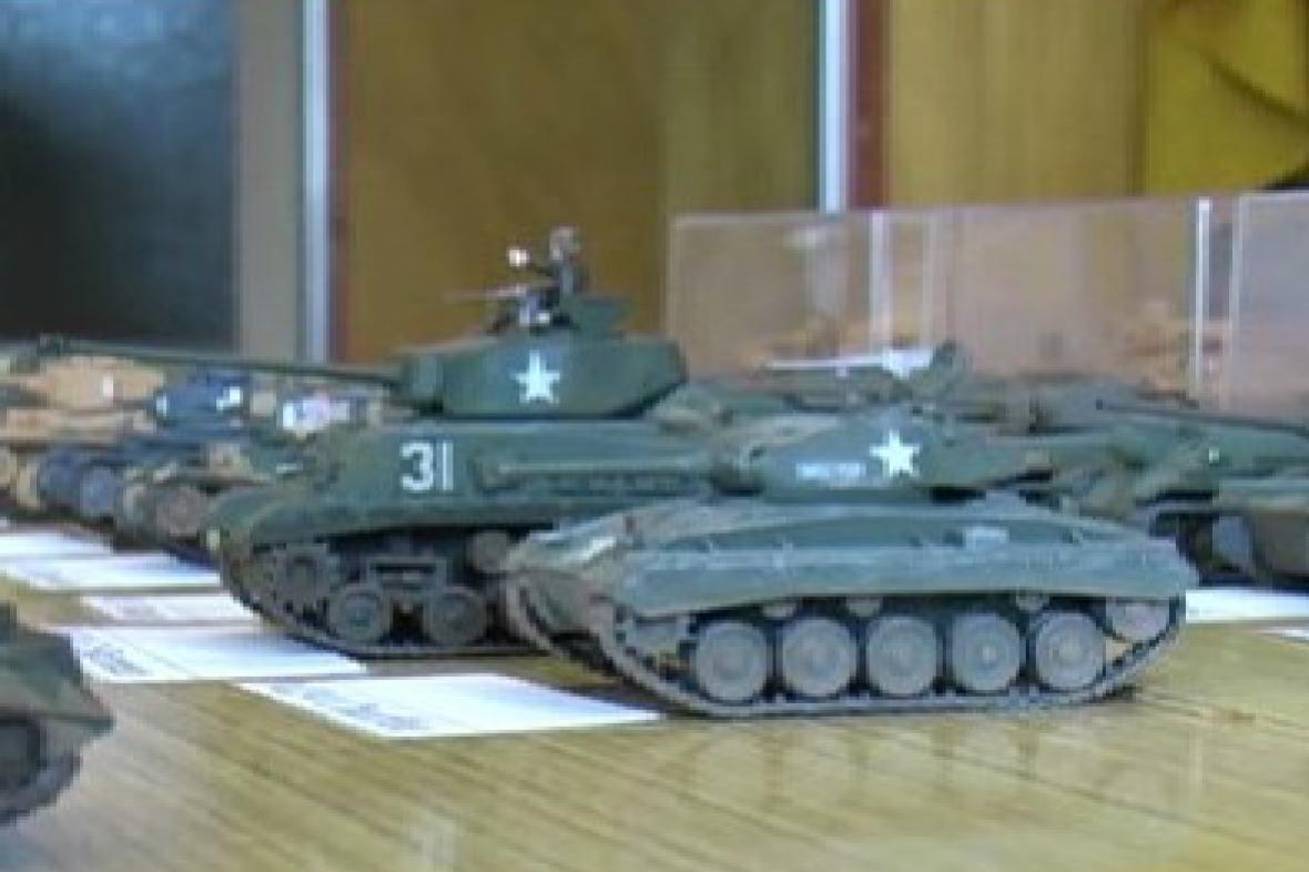 Modely tanků na výstavě v Uherském Brodě