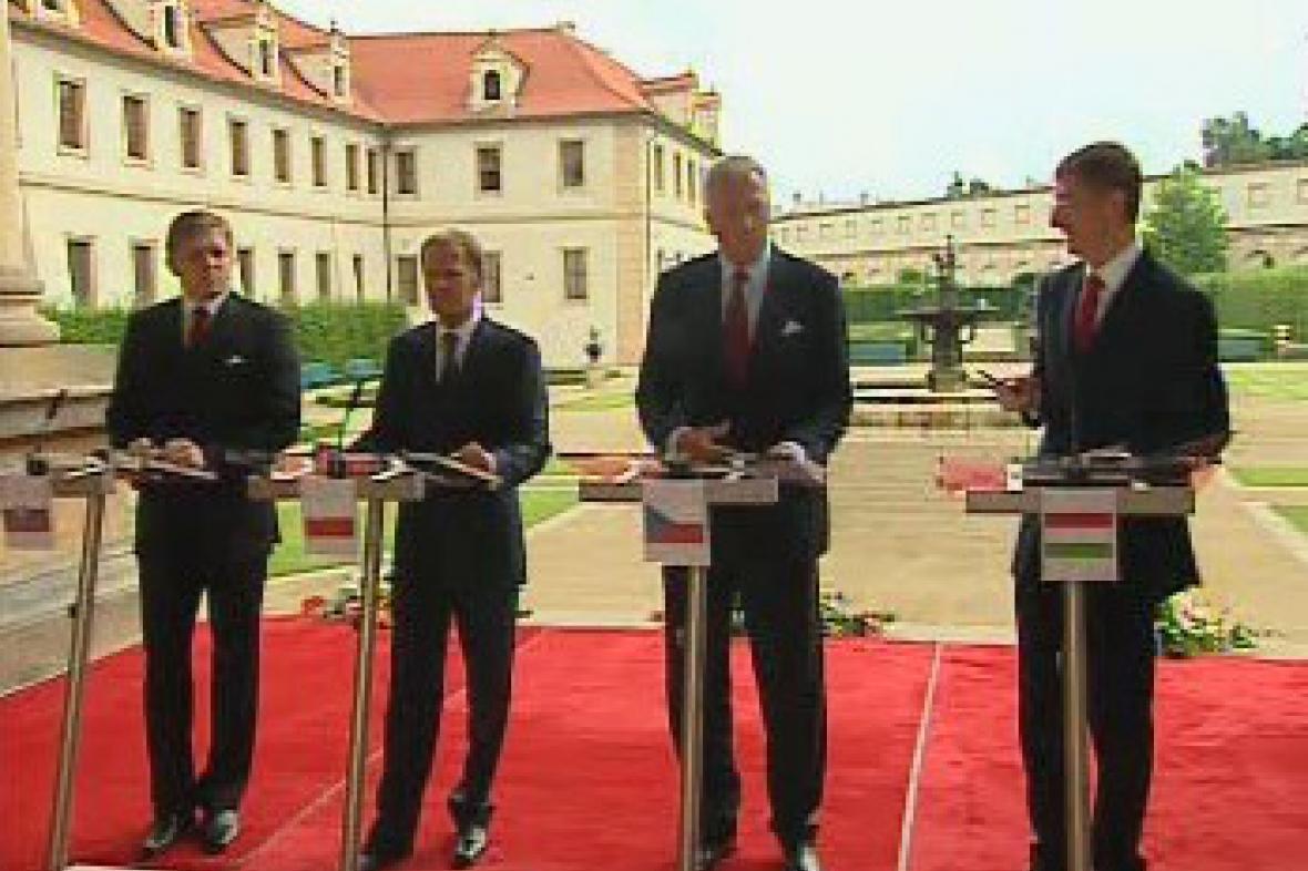 Jednání premiérů V4 v Praze