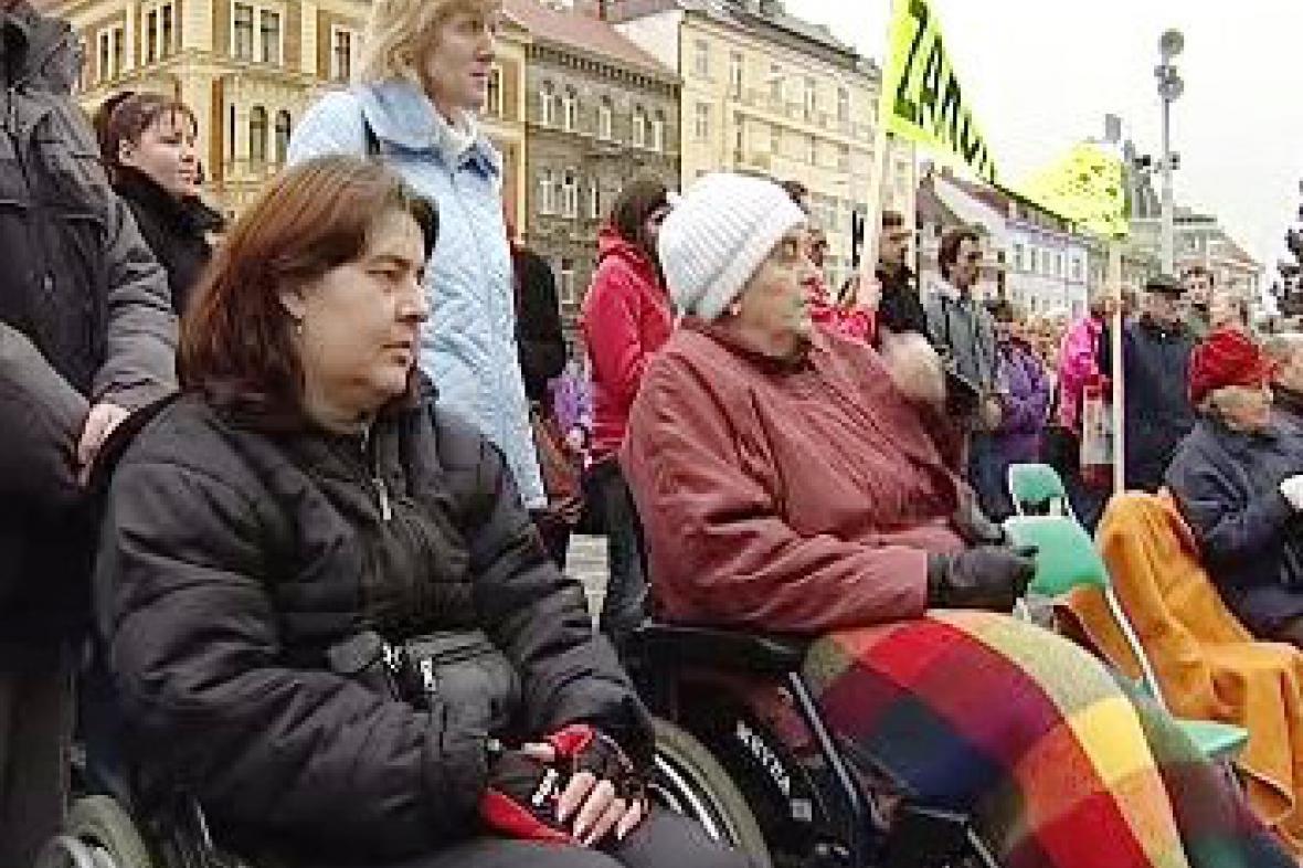 Protesty vozíčkářů