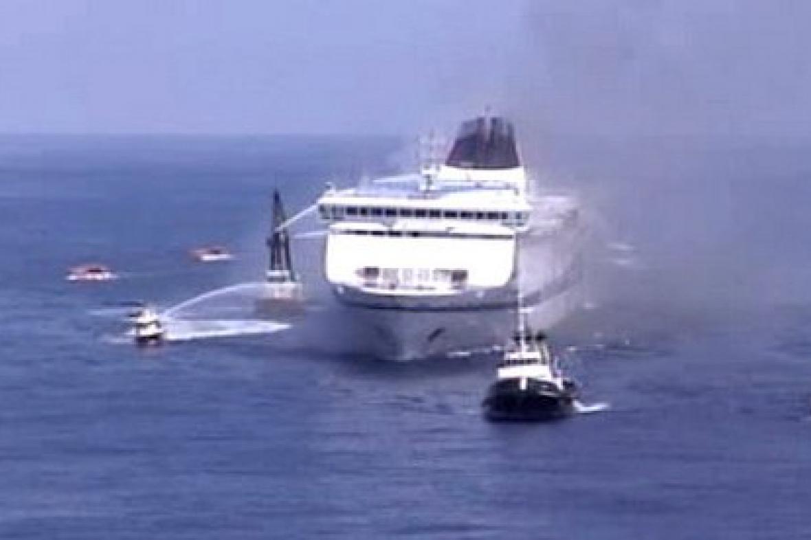 Požár trajektu