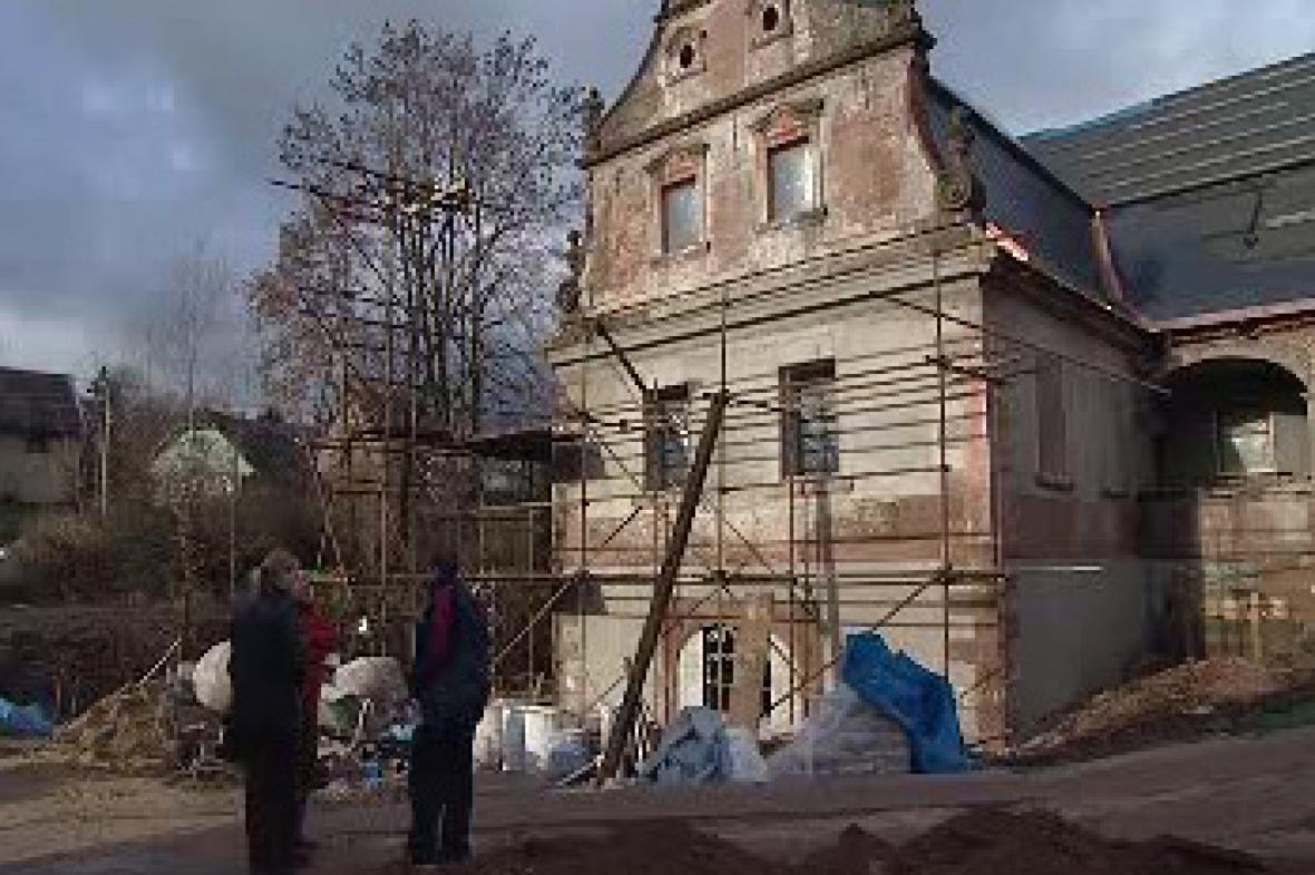 Plátenický dům v Horní Branné