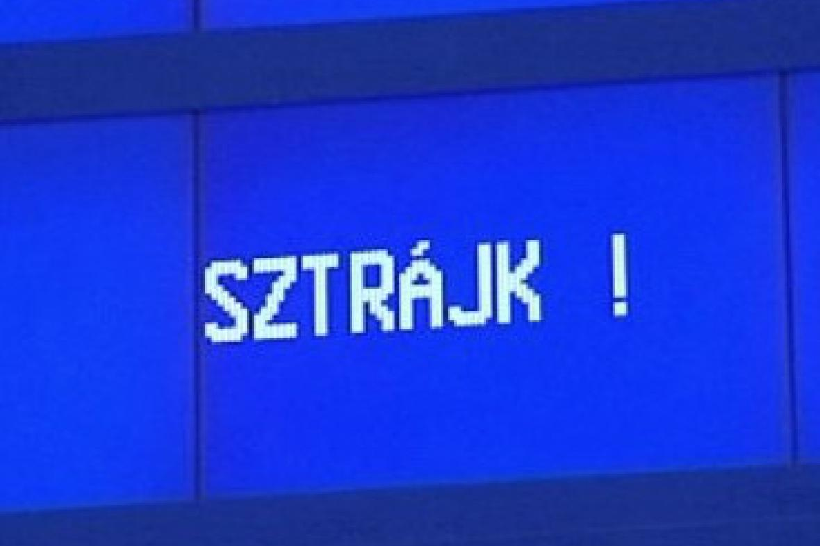 Stávka maďarských železničářů