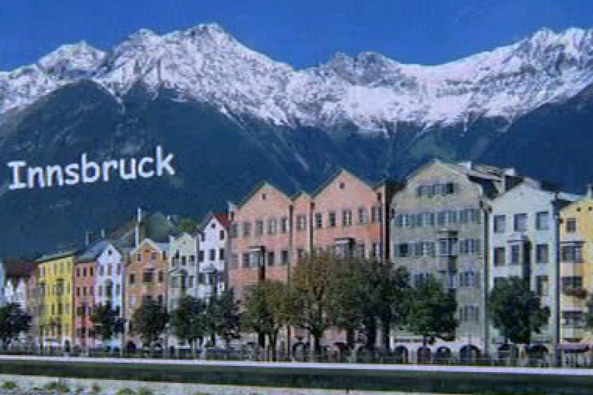 Zfalšovaná pohlednice z Innsbrucku