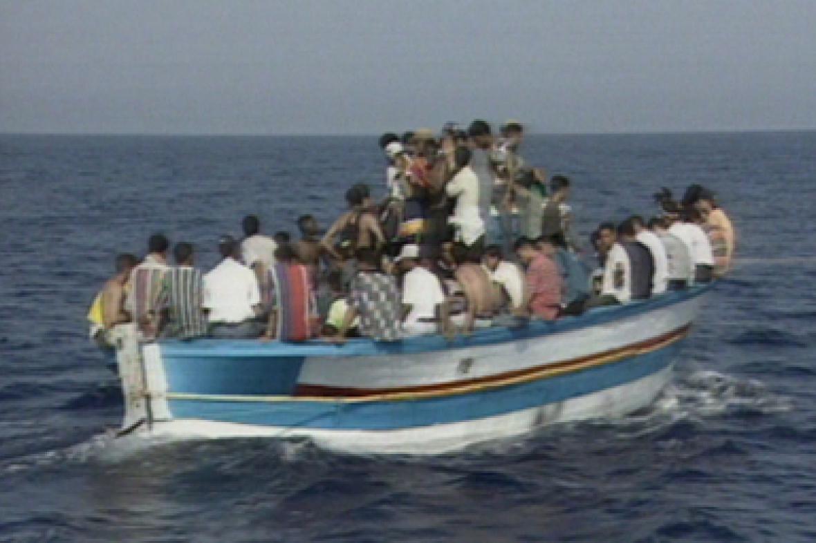 Uprchlíci na lodi