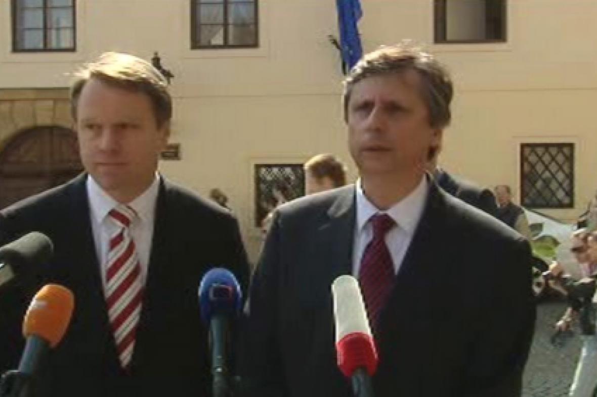 Martin Bursík a Jan Fischer