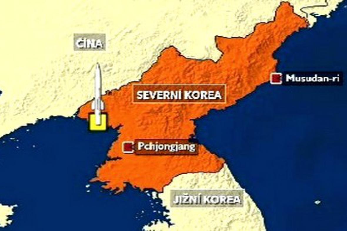 Mapka Severní Koreje