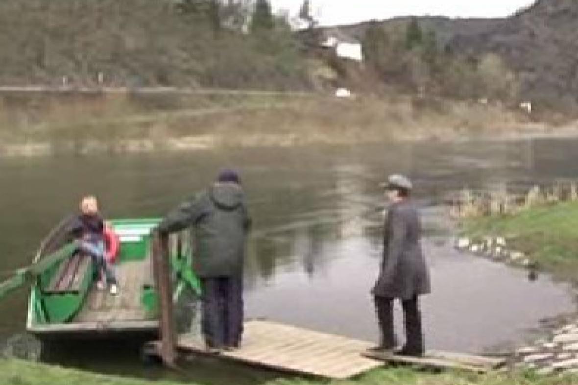 Přívoz v obci Vrané nad Vltavou
