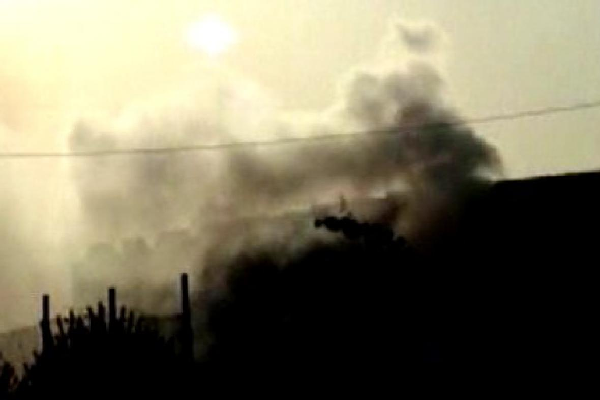 Požár indické továrny