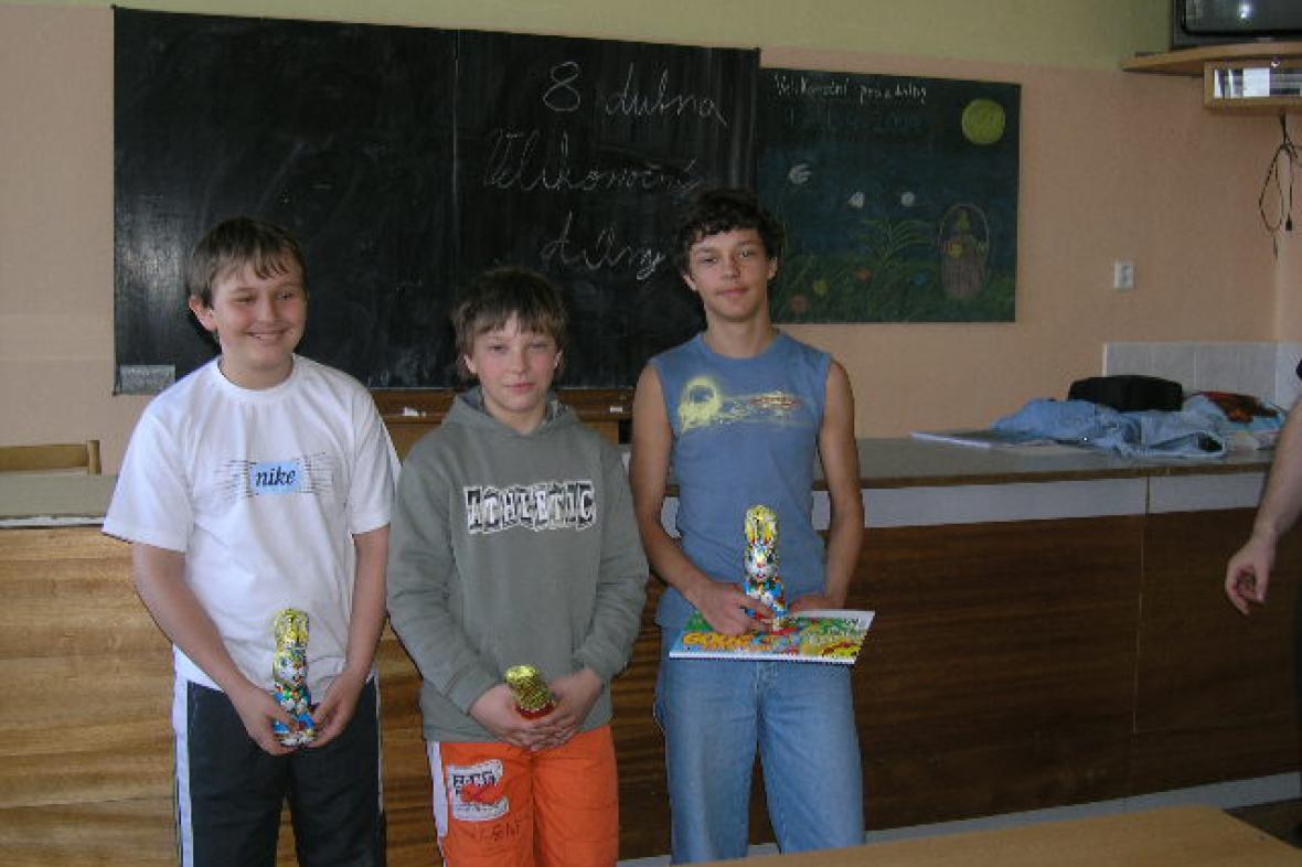 Tři nejlepší šachového turnaje v Šumné
