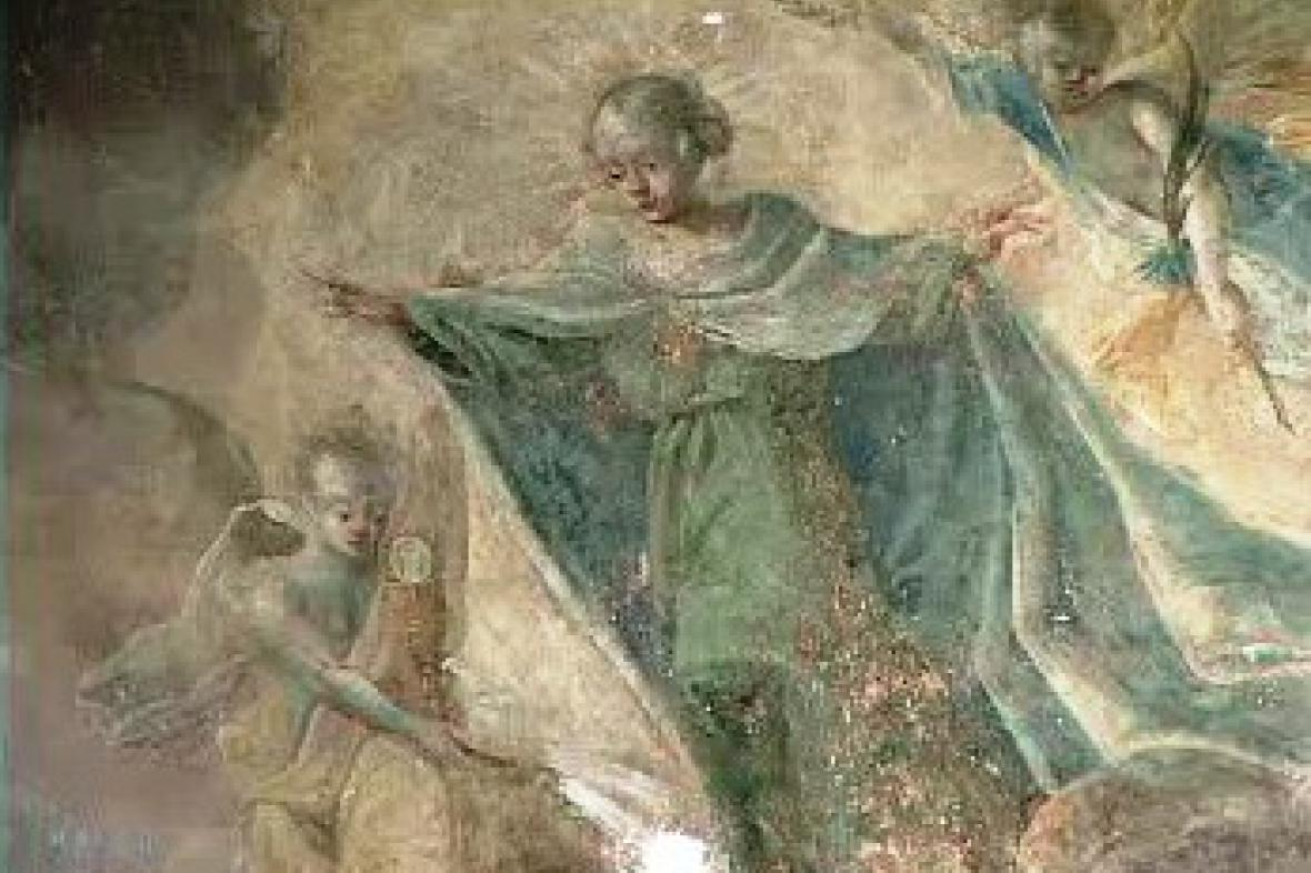 Odkrytá freska v Kutné Hoře