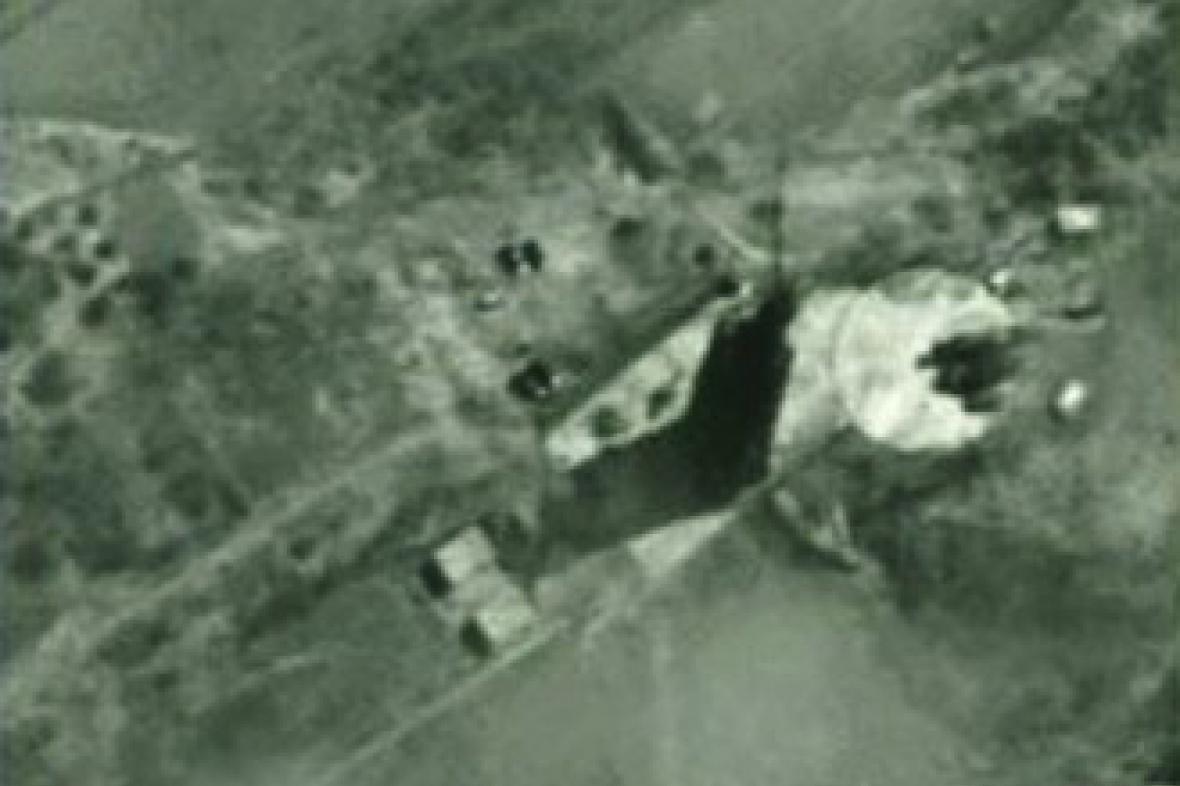 Satelitní snímek odpalovací rampy