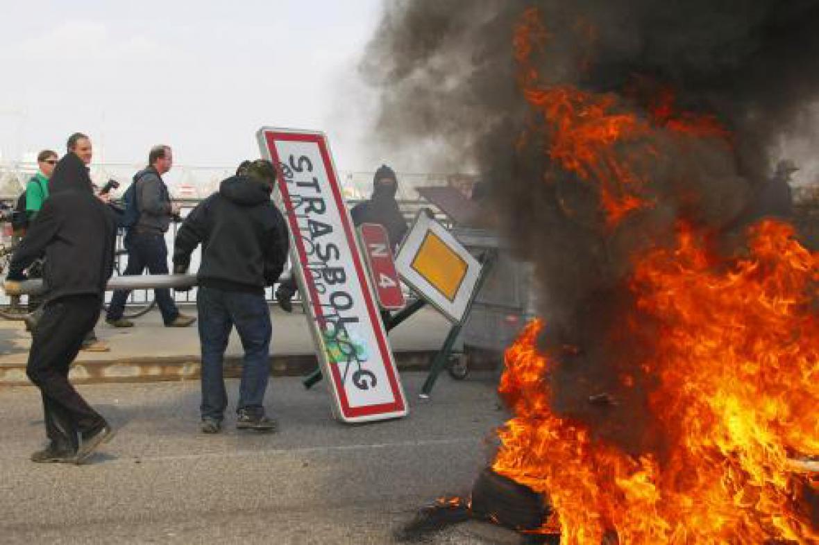 Demonstrace ve Štrasburku